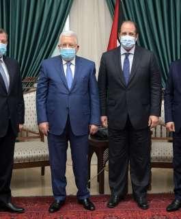 الرئيس يستقبل رئيسي جهازي المخابرات العامة المصرية والأردنية