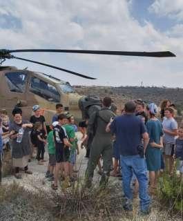 هبوط طائرة إسرائيلية اضطراريا في نابلس