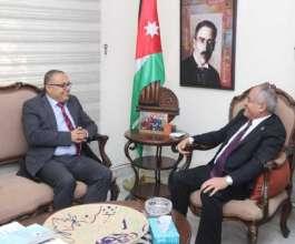 وزير الثقافة يبحث مع نظيره الأردني التعاون الثقافي المشترك